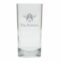 PERSONALIZED BEE HIGHBALL: SET OF 4 (Unbreakable)