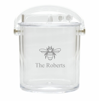 PERSONALIZED BEE ICE BUCKET WITH TONGS
