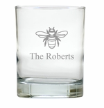 PERSONALIZED BEE OLD FASHIONED - SET OF 4 (Unbreakable)