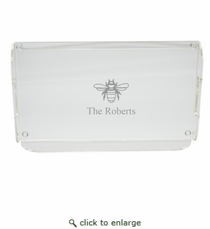 PERSONALIZED BEE SERVING TRAY WITH HANDLES