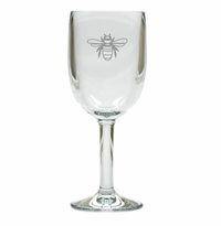 BEE WINE STEMWARE - SET OF 4 (Unbreakable)