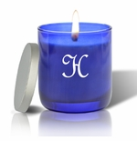 PERSONALIZED BLUE COLLECTION CANDLE: INITIAL