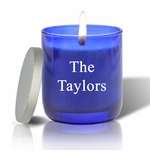 PERSONALIZED BLUE COLLECTION CANDLE: NAME