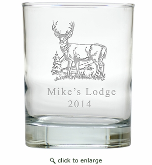 PERSONALIZED BUCK : OLD FASHIONED - SET OF 4 (Unbreakable)