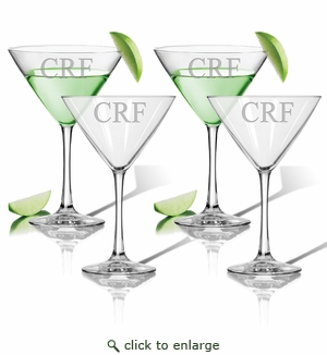 PERSONALIZED COCKTAIL - SET OF 4 (GLASS)