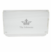 PERSONALIZED CROWN SERVING TRAY WITH HANDLES