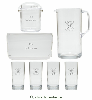 PERSONALIZED ENTERTAINING SET (Unbreakable & Acrylic)