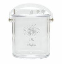PERSONALIZED FIREWORKS ICE BUCKET WITH TONGS