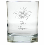 PERSONALIZED FIREWORKS OLD FASHIONED - SET OF 4 (Unbreakable)