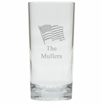 PERSONALIZED FLAG HIGHBALL: SET OF 4 (Unbreakable)