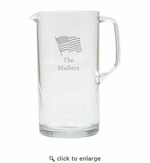 PERSONALIZED FLAG PITCHER  (Unbreakable)