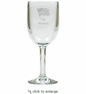PERSONALIZED FLAG WINE STEMWARE - SET OF 4 (Unbreakable)
