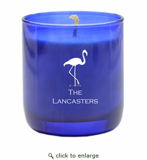 PERSONALIZED FLAMINGO BLUE COLLECTION CANDLE