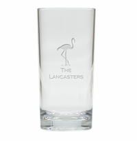 PERSONALIZED FLAMINGO COOLER: SET OF 6 (Glass)