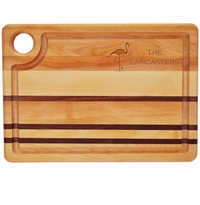 "INTEGRITY COLLECTION:14"" x 10"" STEAK CARVING BOARD PERSONALIZED FLAMINGO"