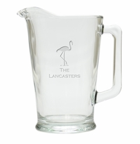 PERSONALIZED FLAMINGO  PITCHER  (GLASS)