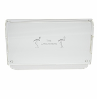 PERSONALIZED FLAMINGO SERVING TRAY WITH HANDLES