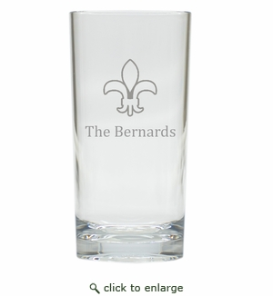 PERSONALIZED FLEUR DE LIS COOLER: SET OF 6 (Glass)