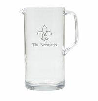 PERSONALIZED FLEUR DE LIS PITCHER  (Unbreakable)