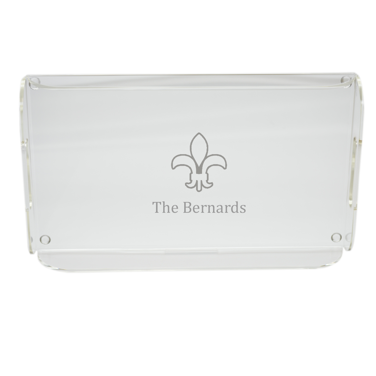 Personalized fleur de lis serving tray with handles - Fleur de lis serving tray ...
