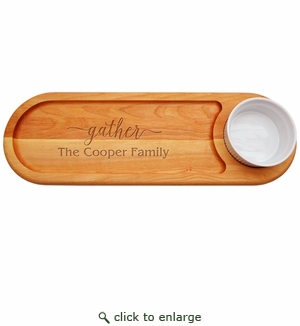 Personalized Gather Everyday Dip & Serve Board