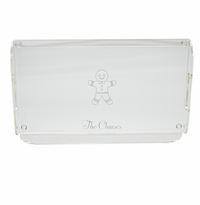 PERSONALIZED GINGERBREAD MAN SERVING TRAY WITH HANDLES