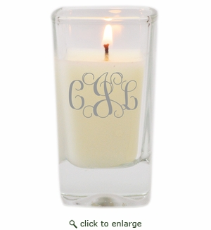 Personalized Glass Votive Candle