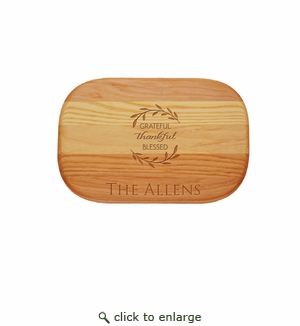 Personalized Grateful Thankful Small Everyday Board