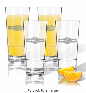 PERSONALIZED HIGHBALL SET OF 4 (Unbreakable): Sports, Food, & Drinks