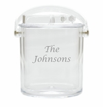 PERSONALIZED ICE BUCKET WITH TONGS