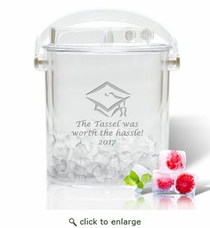 PERSONALIZED ICE BUCKET WITH TONGS : Tassel Worth The Hassele 2017