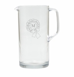 PERSONALIZED INITIAL WREATH PITCHER  (Unbreakable)
