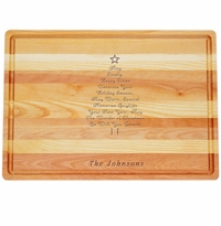 "MASTER COLLECTION: 20"" x 14.5"" LARGE BOARD PERSONALIZED INSPIRATIONAL CHRISTMAS TREE"