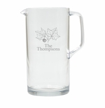 PERSONALIZED LEAF PITCHER  (Unbreakable)