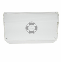 PERSONALIZED LIFE PRESERVER SERVING TRAY WITH HANDLES