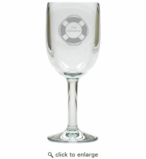 PERSONALIZED LIFE PRESERVER WINE STEMWARE - SET OF 4 (Unbreakable)