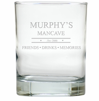 PERSONALIZED MANCAVE : OLD FASHIONED - SET OF 4 (Unbreakable)