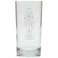 PERSONALIZED MONOGRAM NUTCRACKER COOLER: SET OF 6 (Glass)