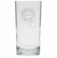 PERSONALIZED NAME WREATH COOLER: SET OF 6 (Glass)