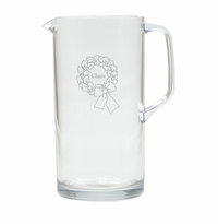 PERSONALIZED NAME WREATH PITCHER  (Unbreakable)