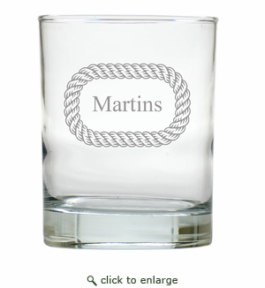 PERSONALIZED O-ROPE OLD FASHIONED - SET OF 6 GLASS