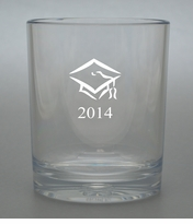 PERSONALIZED OLD FASHIONED - SET OF 4 (Unbreakable): CLASS OF 2014