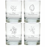 PERSONALIZED OLD FASHIONED - SET OF 4 LEAVES (Unbreakable)