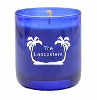 PERSONALIZED PALM TREES BLUE COLLECTION CANDLE