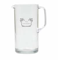 PERSONALIZED PALM TREES PITCHER  (Unbreakable)