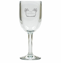 PERSONALIZED PALM TREES WINE STEMWARE - SET OF 4 (Unbreakable)