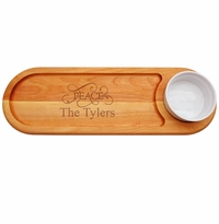 Personalized Peace Everyday Dip & Serve Board