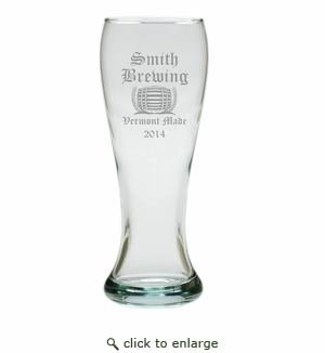 PERSONALIZED PILSNER GLASS: SET OF 4- HOME BREW OLD ENGLISH