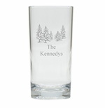 PERSONALIZED PINE TREES HIGHBALL: SET OF 4 (Unbreakable)