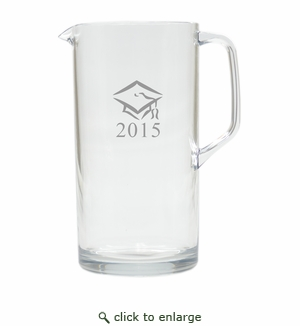 PERSONALIZED PITCHER  (Unbreakable): GRADUATION CAP with DATE